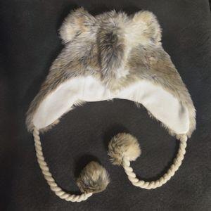 AMERICAN EAGLE Fuzzy Wolf Faux Fur Winter Hat